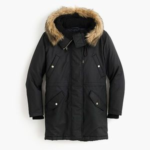 J.Crew Perfect Winter Parka Coat with Primaloft